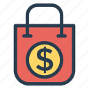 bag, ecology, ecommerce, money, shop, shopping, shoppingbag icon
