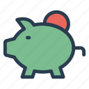 bank, budget, money, piggy, piggybank, saving, savings icon