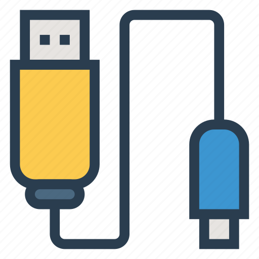 cable, connection, connector, datacable, hub, port, usb icon