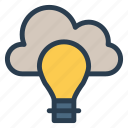 bulb, campaign, cloudcreative, idea, mind, think, thought icon