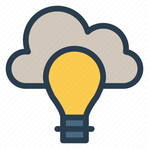 bulb, campaign, cloudcreative, idea, mind, think, thought icon
