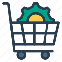 shopping, gear, cart, options, setting, cog, ecommerce