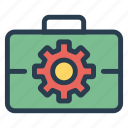 account, case, job, optimization, portfolio, setting, work icon