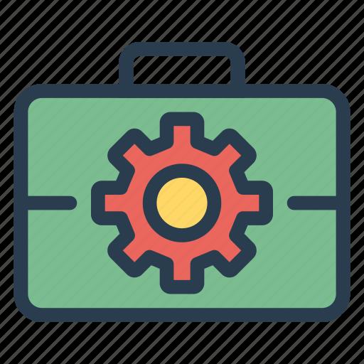 account, case, job, optimization, portfolio, setting, work icon