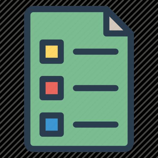 business, check, checklist, document, list, menu, text icon