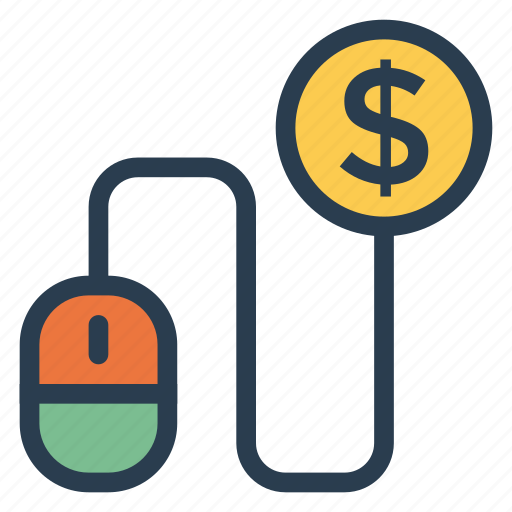 Ppc, payperclick, money, per, pay, mouse, click icon