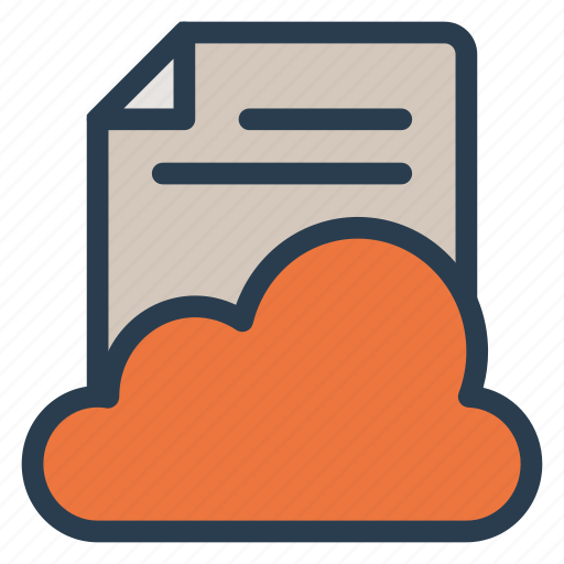 cloud, document, file, paper, storage, upload, web icon