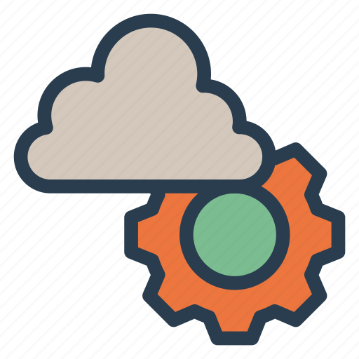 cloud, data, database, gears, options, preferences, setting icon