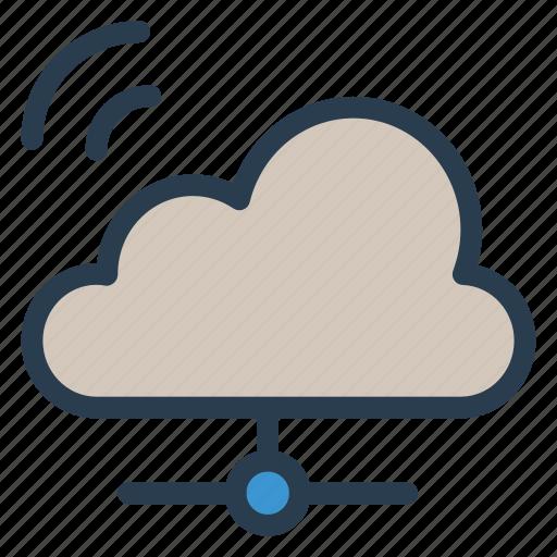 Sharing, network, computing, share, wifi, storage, cloud icon