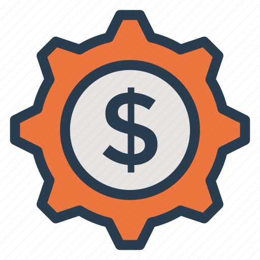 Finance, money, options, setting, coin, payment, gear icon