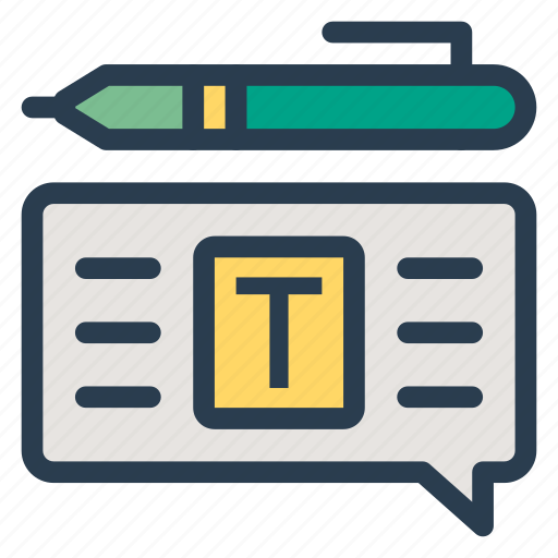 chat, comment, edit, feedback, message, note, write icon