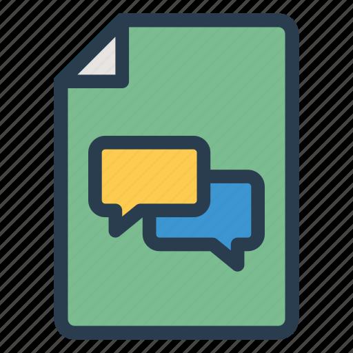 bubble, chat, communication, conversation, message, people, talk icon