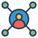 connect, connectivity, department, people, relationship, source, team icon
