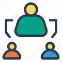 connect, connectivity, department, relationship, source, team, work icon
