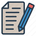 document, draft, edit, entry, file, format, text icon