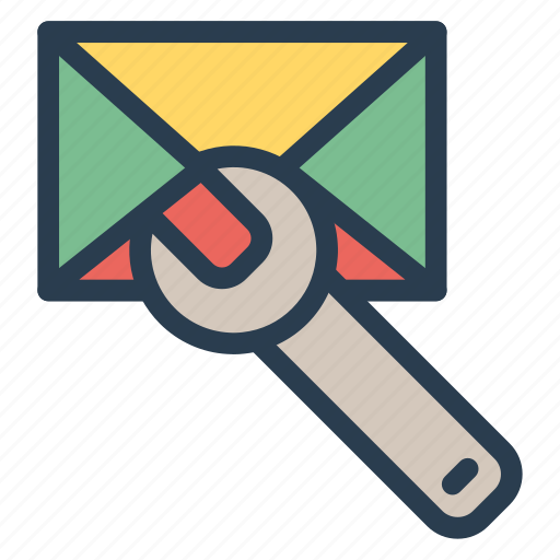 cog, configuration, email, mail, message, setting, tools icon