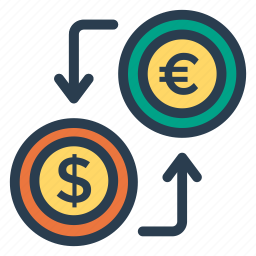 currency, dollar, exchange, finance, money, replacement, transaction icon