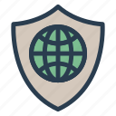 global, network, online, protection, safety, secure, security icon