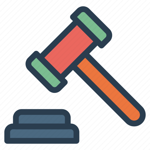 Tool, work, equipment, construction, judge, law, hammer icon