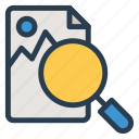 find, image, marketing, photo, picture, search, seo icon