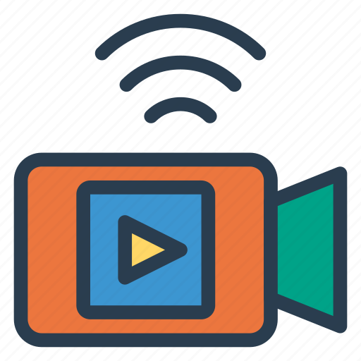 camera, live, livechat, multimedia, recording, video, videocalling icon