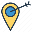 location, marker, navigation, navigator, point, position, target icon