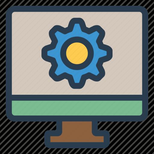 computer, control, desktop, instalation, monitor, service, setting icon