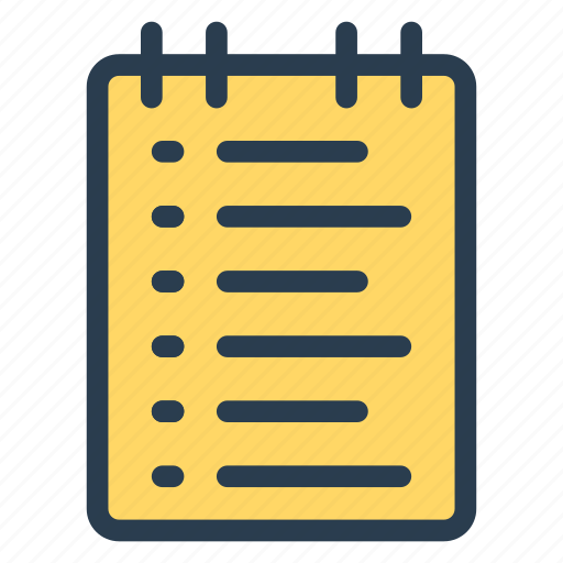 draft, list, notepad, notes, office, page, text icon