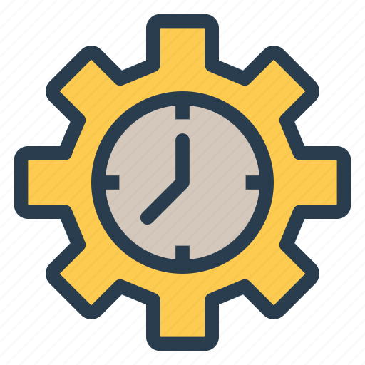 business, configuration, gear, management, schedule, setting, time icon
