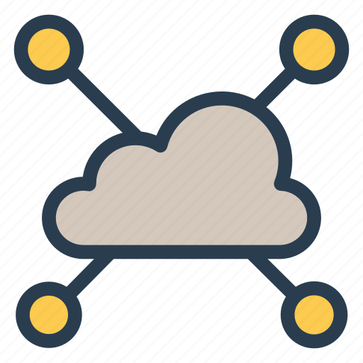 cloud, computing, devices, network, share, sharing, storage icon