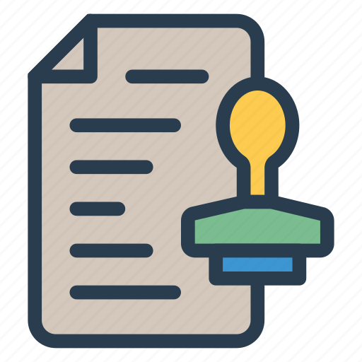 business, ducument, file, format, office, postage, stamp icon