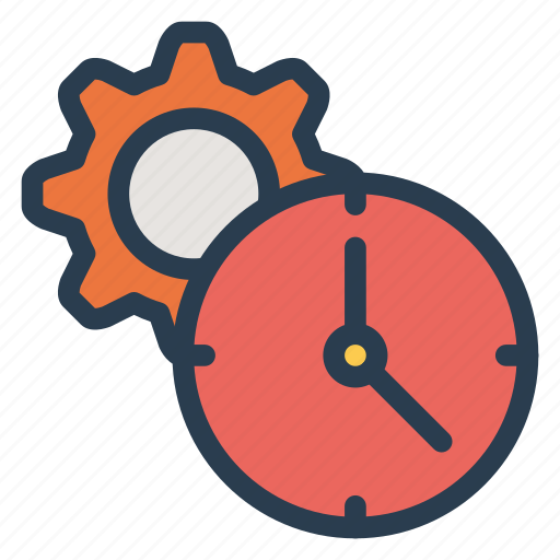 business, configuration, finance, gear, schedule, setting, time icon