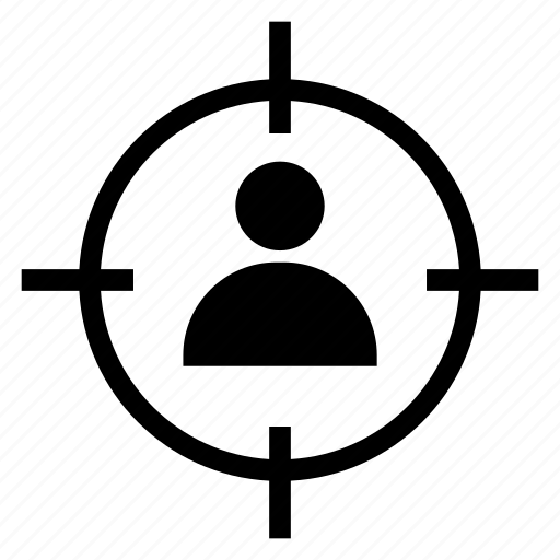 avatar, focus, man, person, profile, target, user icon