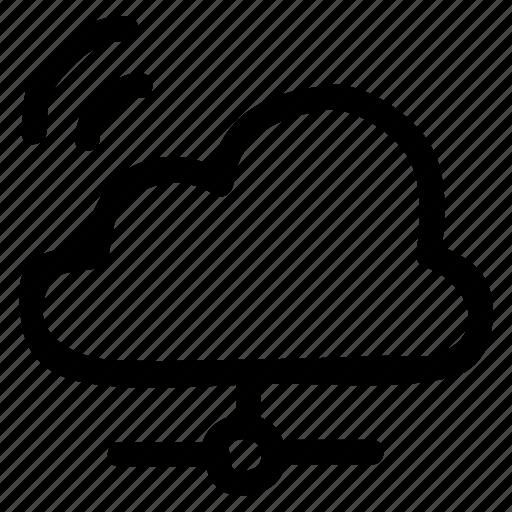 cloud, computing, network, share, sharing, storage, wifi icon
