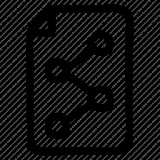 data, file, graph, information, media, share, statistic icon