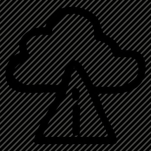 alert, cloud, computing, disable, error, remove, warning icon