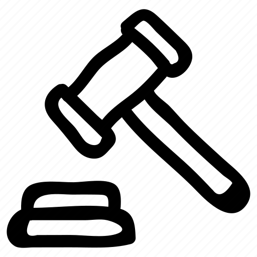 construction, equipment, hammer, judge, law, tool, work icon
