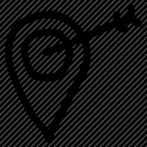 location, marker, navigation, navigator, point, position, target icon