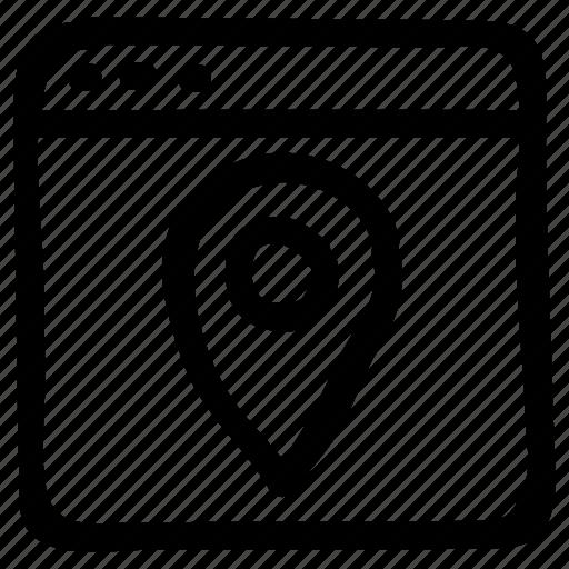 directions, internet, location, navigation, pin, seo, web icon