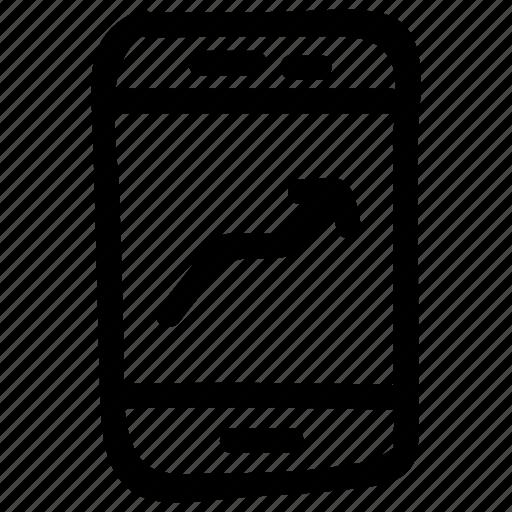 analytics, device, mobile, phone, screen, smartphone, statistics icon
