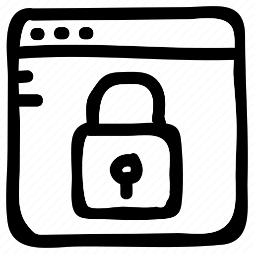 browser, internet, lock, locked, security, web, website icon