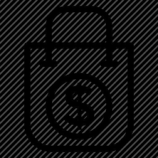 Bag, ecology, ecommerce, money, shop, shopping, shoppingbag icon - Download on Iconfinder