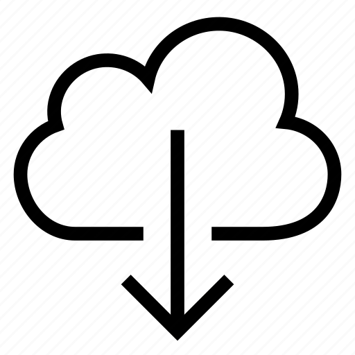 arrow, cloud, cloudcomputing, down, download, save, storage icon