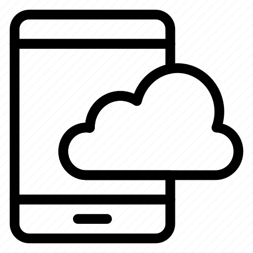 cloud, mobile, phone, smart, storage, telephone icon