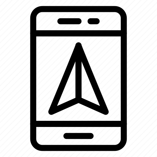 compass, device, mobile, navigation, phone, road, smartphone icon