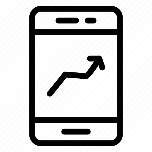 analytics, device, mobile, phone, screen, smartphone, statistics icon