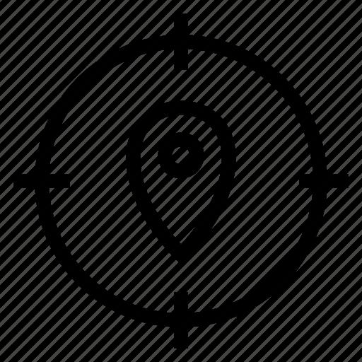 focus, gps, location, map, navigation, pin, target icon