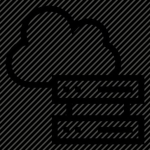 cloud, data, database, hosting, network, server, storage icon