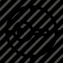 doorkey, focus, key, lock, secure, security, target icon