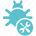 bug, fixing, seo, seo icons, seo pack, seo services icon